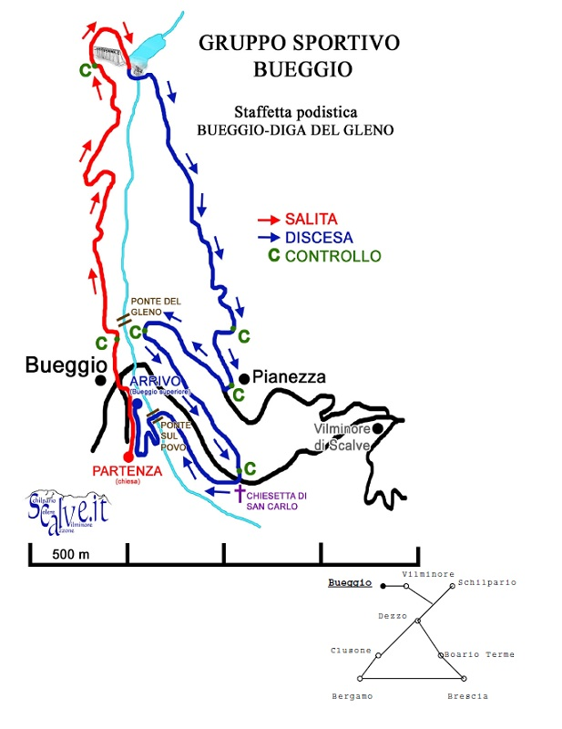 Domani si corre a staffetta alla diga del gleno montagna for Magri arreda volantino 2017