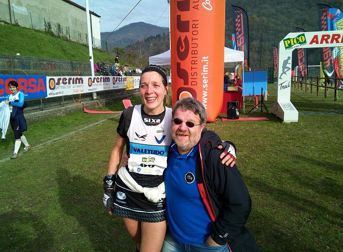 Pico Trail, Darietto Busi e l'aquila Valetudo Ester Scotti - ph. Valetudo