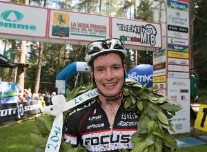Fabian Rabensteiner vince la Vecia Ferovia 2014 val di fiemme trento mountain bike photo credit Newspower