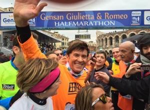 Gianni Morandi Gensan Giulietta&Romeo Half Marathon Verona 2015 rid photo credit Manuel Scarparo