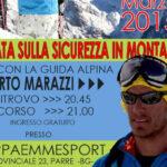 km sport alberto marazzi locandina sicurezza in montagna arva