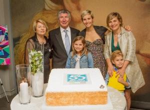 Festa_Santini_GAMeC_50 anni_Bergamo_2015_Pietro_Santini_e_Famiglia