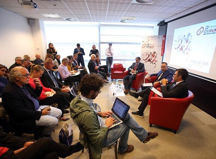 Conferenza stampa sede milanese Gruppo Elpe  ph. credits ANSA