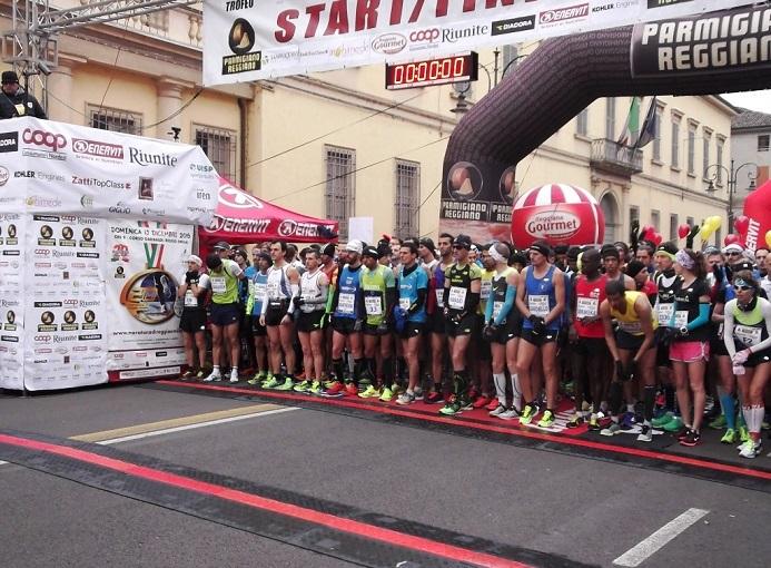 La partenza della Maratona di Reggio Emilia