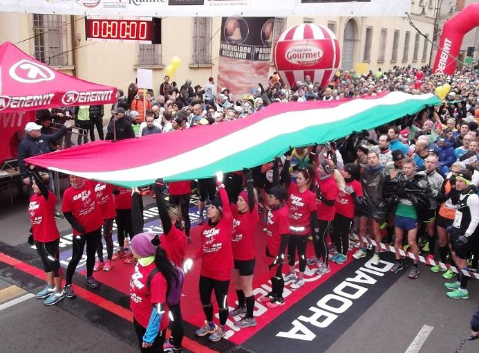 Il tricolore alla Maratona di Reggio Emilia