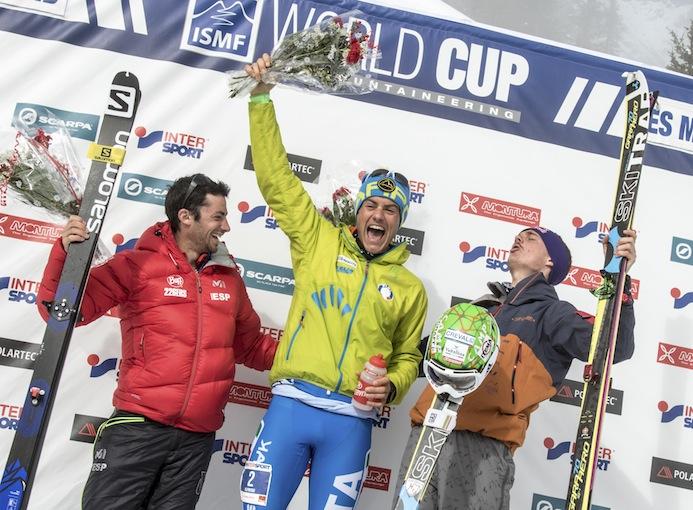 Coppa_del_Mondo_di_sci_alpinismo_2016_Les_Marécottes_Michele_Boscacci_podio_photo_credit_ISMF