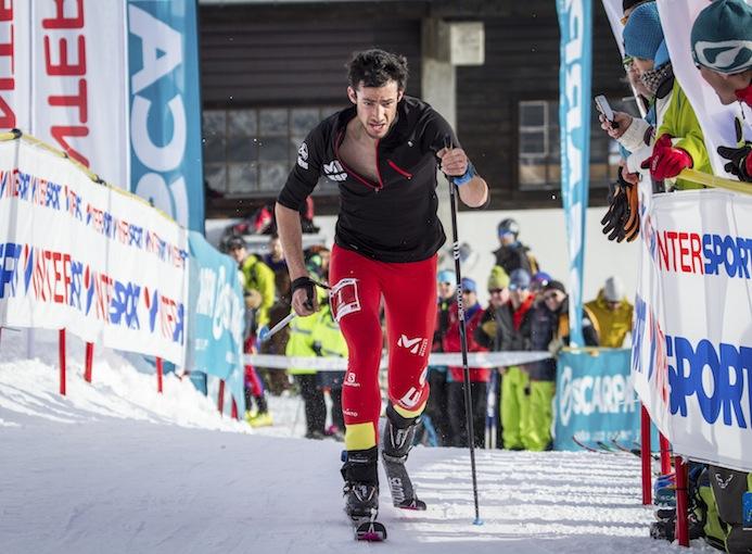 Coppa_del_mondo_ISMF_sci_alpinismo_2016_Les_Marécottes_gara_vertical_Kilian_Jornet_Burgada_ph_organizzazione