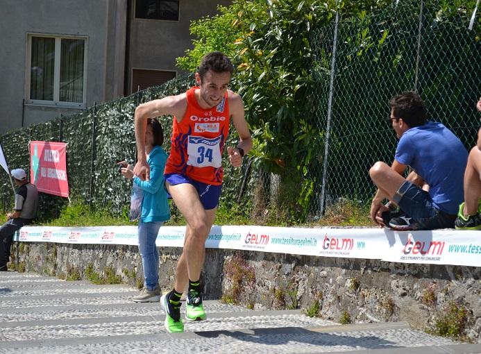 Alex Baldaccini in testa al Trofeo Valli Bergamasche di Leffe 2016 - ph. © Enula Bassanelli