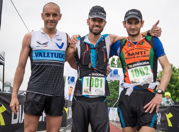 Trail del Viandante 2016 podio m 50 km Pizzatti Bosatelli Calcinati