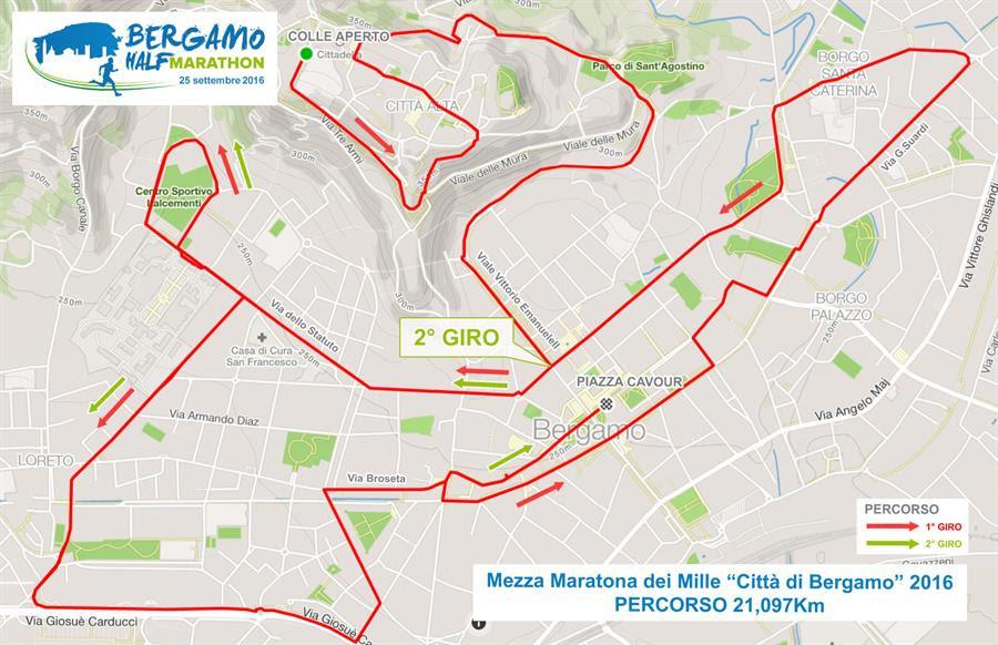 mezza maratona di bergamo 2016 percorso
