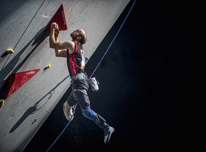 Albert Guardia Ferrer in azione al World Championship Climbing and Paraclimbing Paris 2016