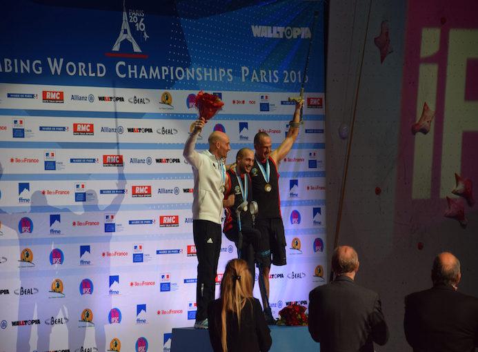 podio paraclimbing IFSC Parigi 2016
