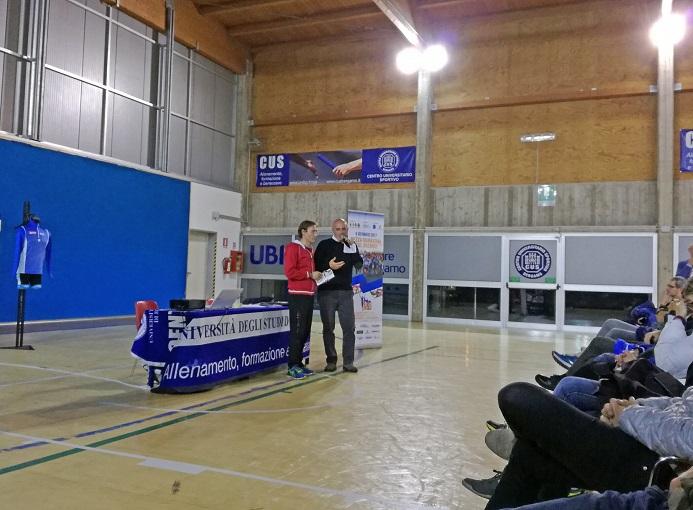 Il presidente dei Runners Bergamo Virgilio Barcella con il preparatore atletico Matteo Rossi