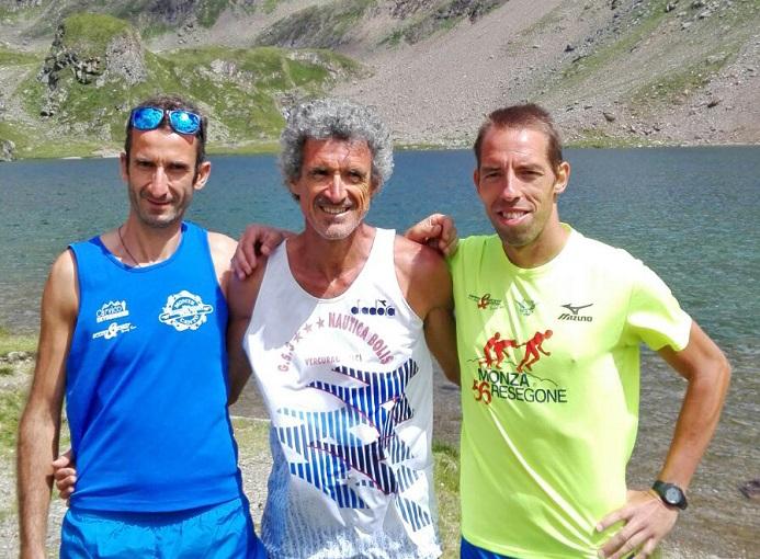 Franco Togni Runners Bergamo con Mauro Previtali e Marco Barbieri