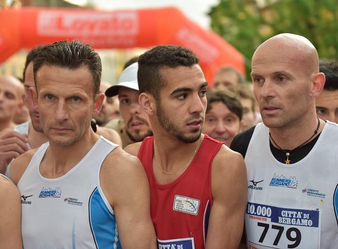 Federico Cagliani (Runners Bergamo) al Diecimila Città di Bergamo 2016 - foto crediti Fabio Ghisalberti