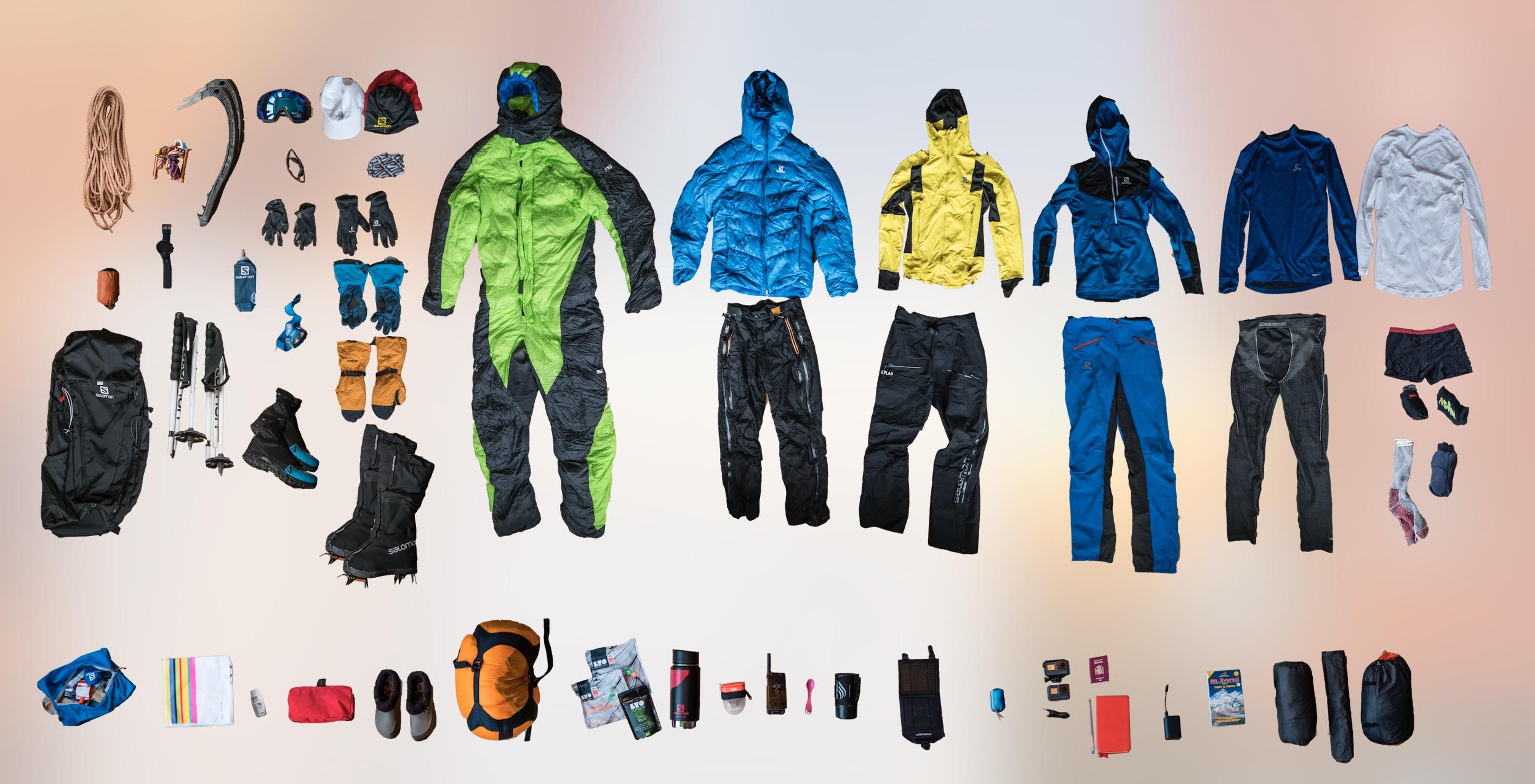 Kilian Jornet_All Gear Everest-2017