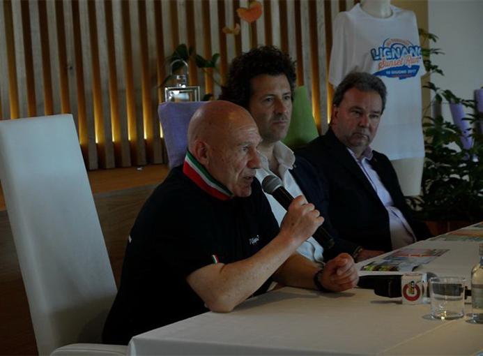 Lignano Sunset Run Half Marathon 2017 presentazione Salvatore Vazzana credit Tiziano Faggiani