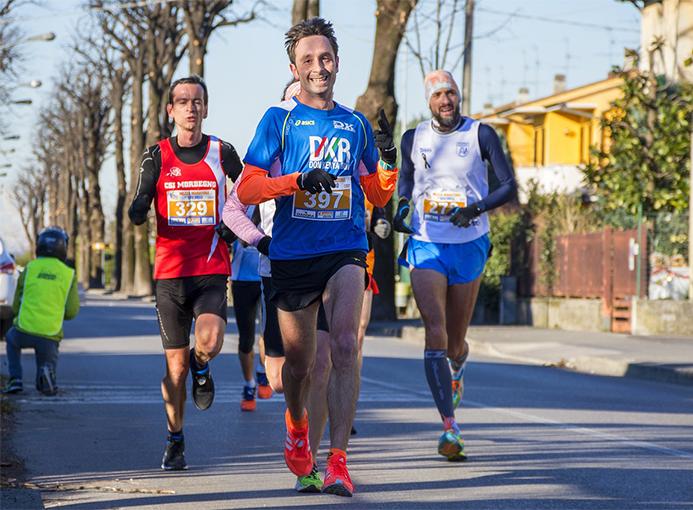 Mezza maratona sul Brembo del 6 Gennaio 2017.