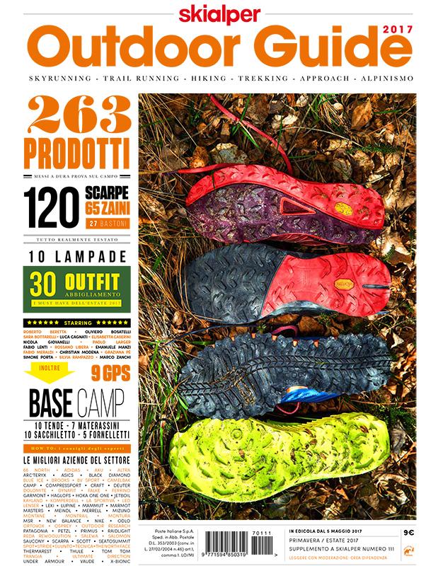 La copertina della Outdoor Guide 2017 di Skialper