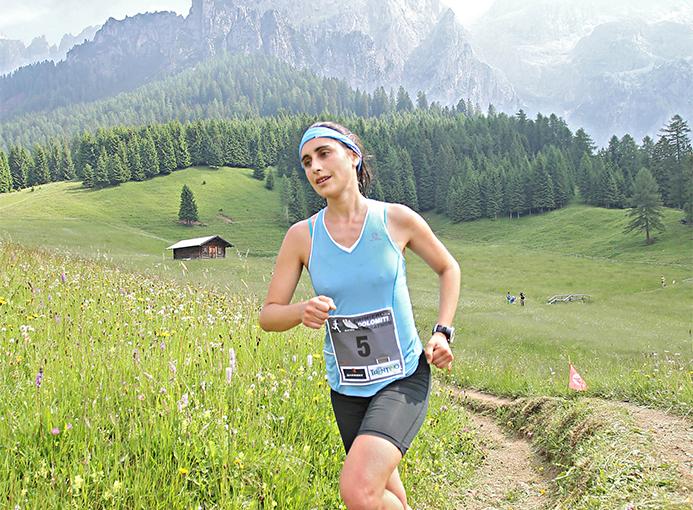 Silvia Serafini alla Primiero Dolomiti Marathon - foto Newspower