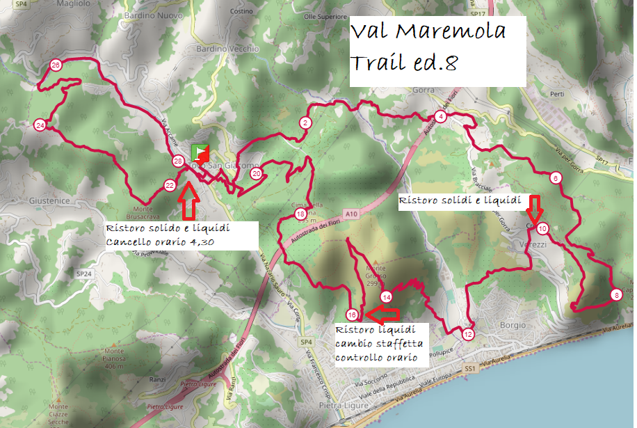 val maremola trail 2020 percorso