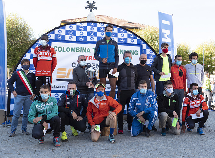 colombina trail running premiazione maschile
