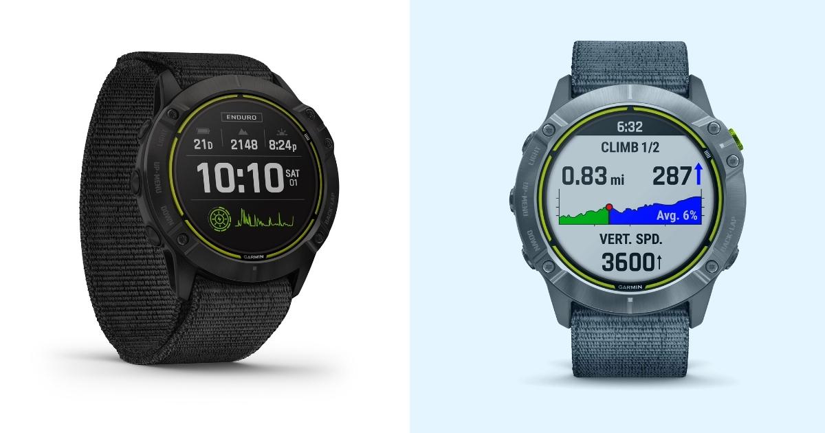 garmin enduro smartwatch trail running