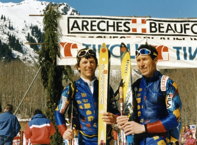 Fabio Meraldi ed Enrico Pedrini scialpinismo