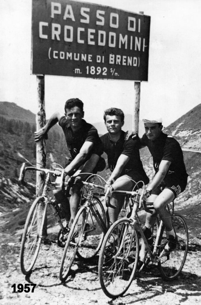 Paolo Parzani ciclismo passo Crocedomini anno 1957