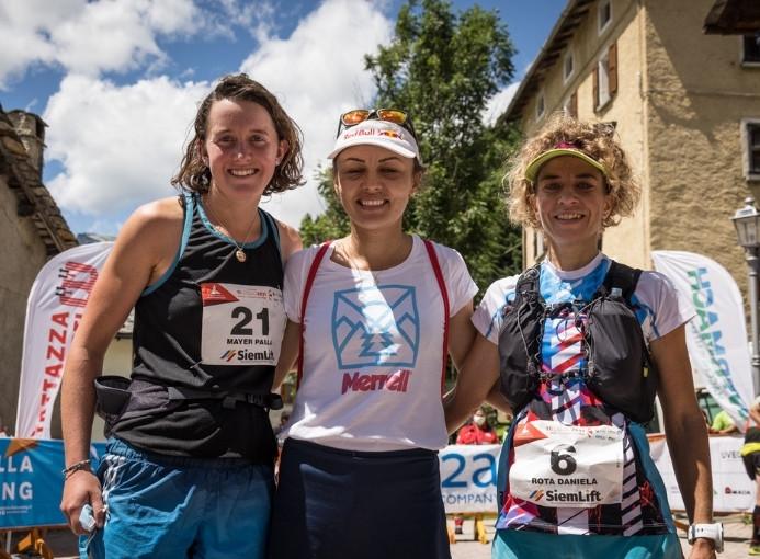 podio femminile Pizzo Stella Skymarathon