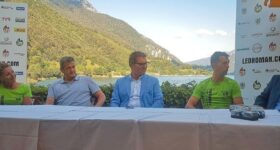 presentazione Ledroman 2021 in riva al lago di Ledro